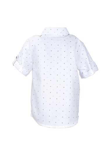 Mininio Beyaz Desenli Cepli Marin Gömlek (9ay-4yaş) Beyaz Desenli Cepli Marin Gömlek (9ay-4yaş) Beyaz